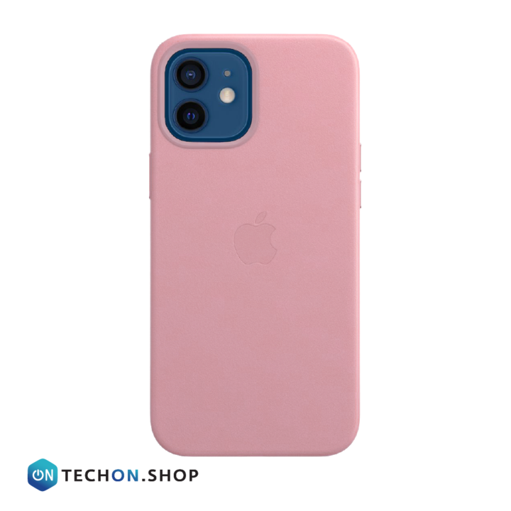 iPhone 12 Leather PU Case - Pink
