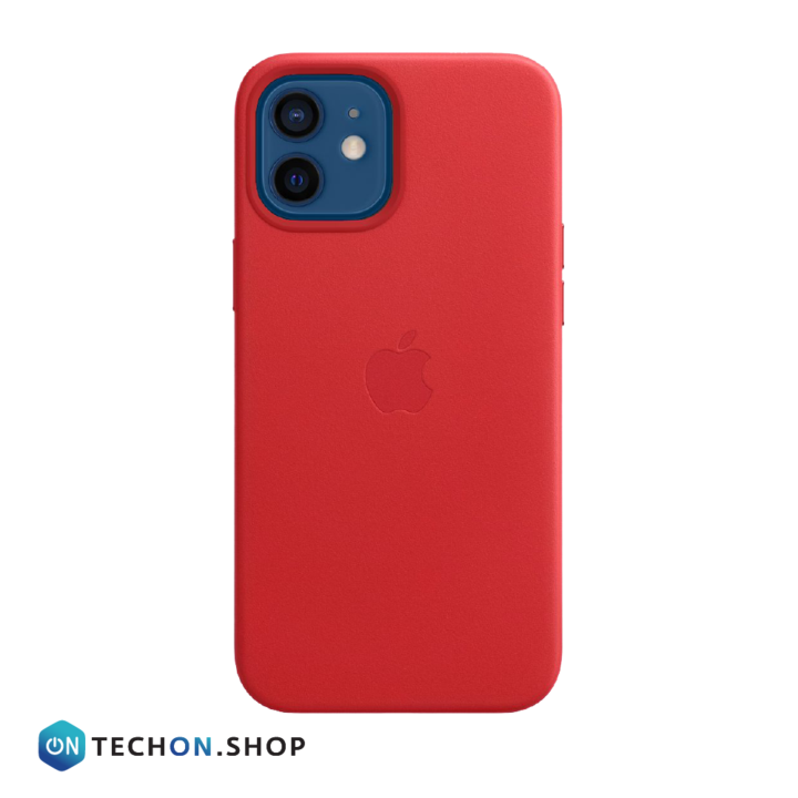 iPhone 12 Leather PU Case - Red