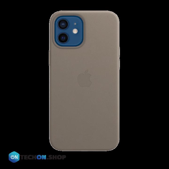 iPhone 12 Leather PU Case - Grey