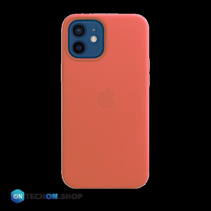 iPhone 12 Leather PU Case - Bright Orange
