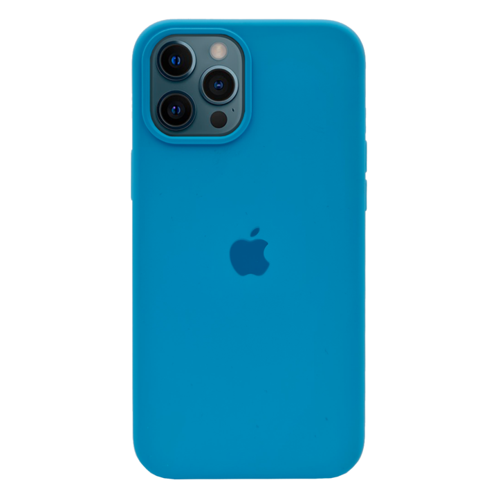 iPhone 12 Pro Silicone Case - Bright Blue
