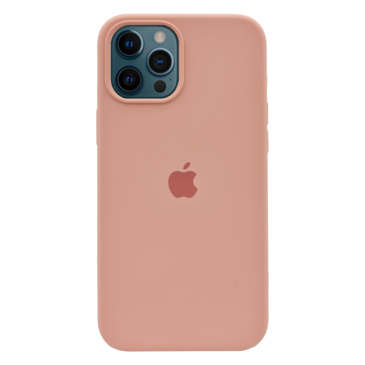 iPhone 12 Pro Silicone Case - Pink Beige