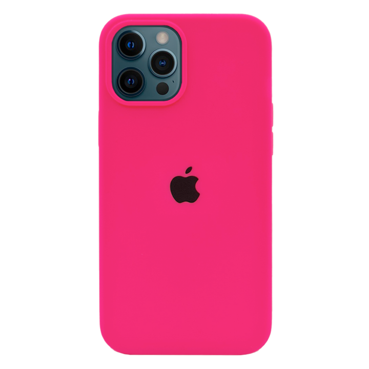 iPhone 12 Pro Silicone Case - Neon Pink