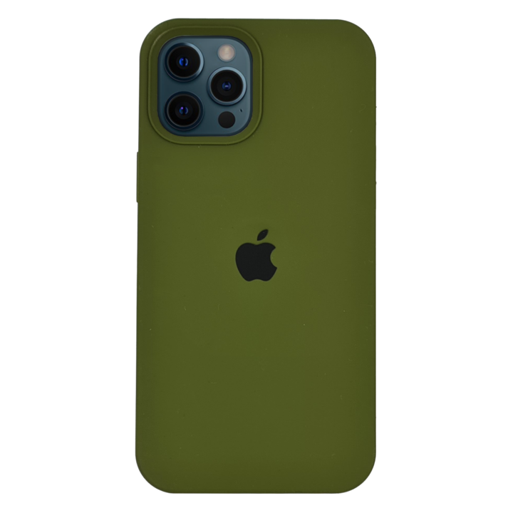 iPhone 12 Pro Silicone Case - Army Green