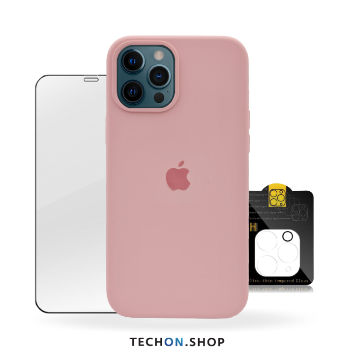 360° Protection Pack | iPhone 12 Pro - Pink