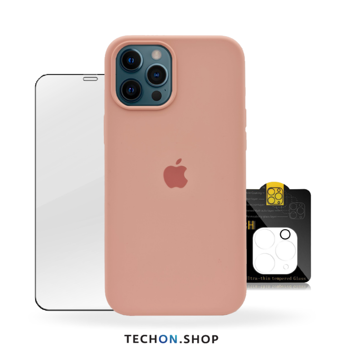 360° Protection Pack | iPhone 12 Pro - Pink Beige