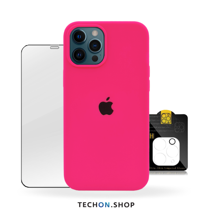 360° Protection Pack | iPhone 12 Pro - Neon Pink