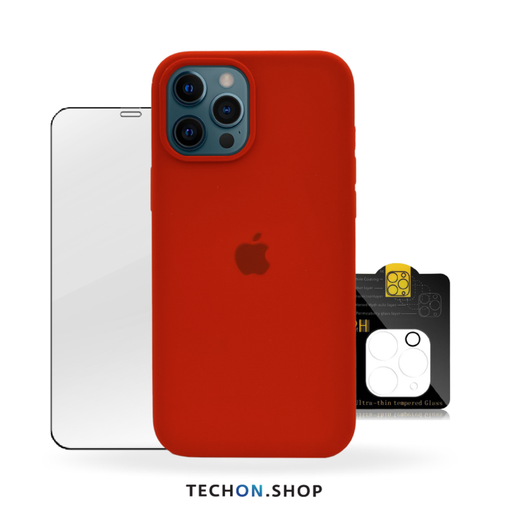 360° Protection Pack | iPhone 12 Pro - Red