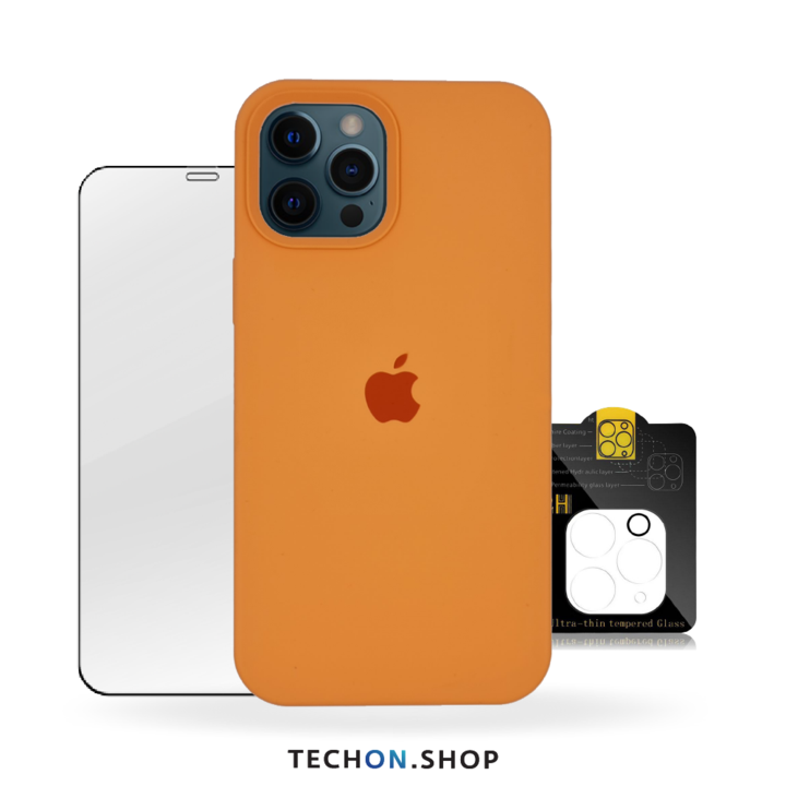360° Protection Pack | iPhone 12 Pro - Apricot Orange