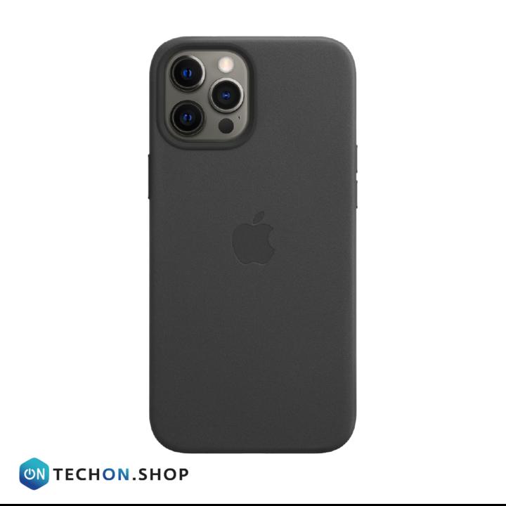 iPhone 12 Pro Leather PU Case - Black - Black