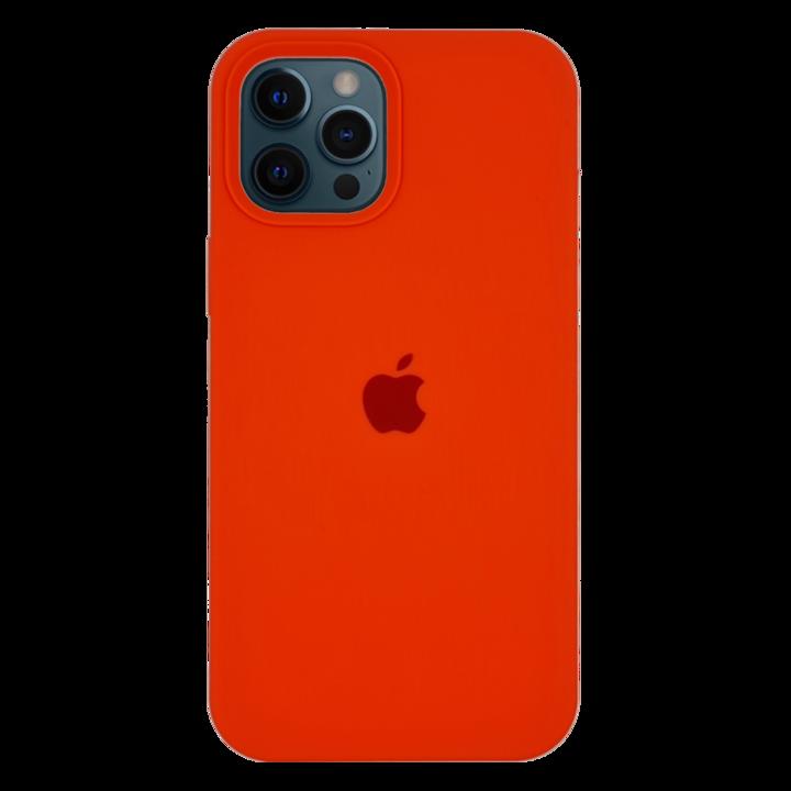 iPhone 12 Pro Max Silicone Case - Neon Orange