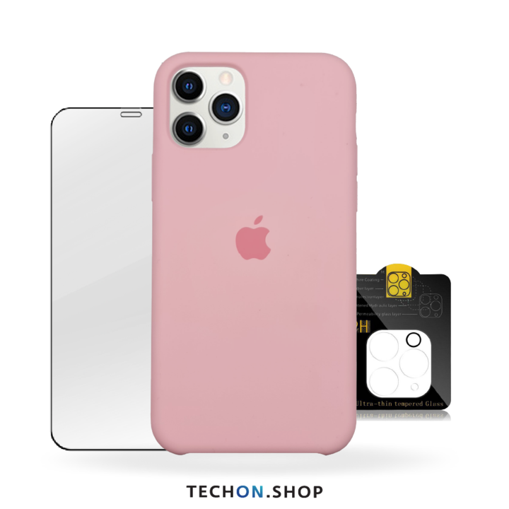 360° Protection Pack | iPhone 11 Pro - Pink