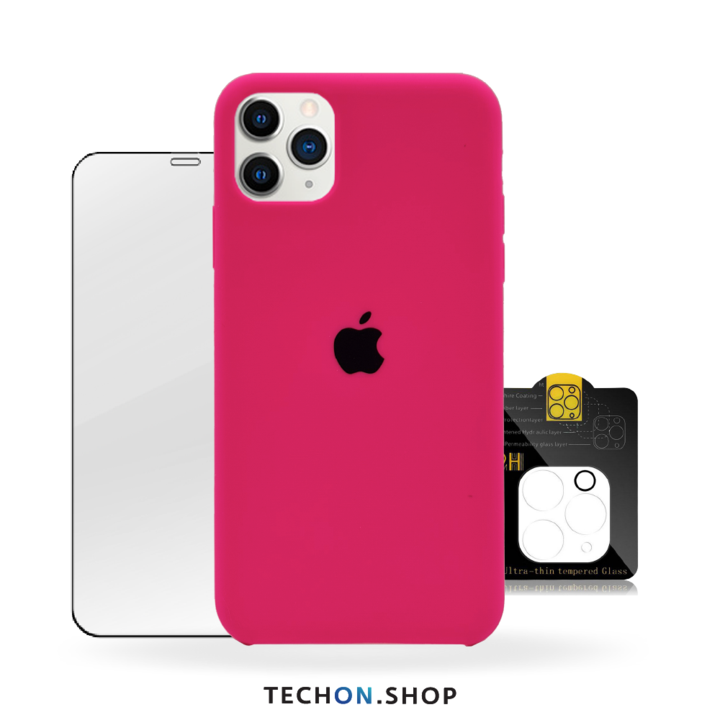 360° Protection Pack | iPhone 11 Pro - Neon Pink