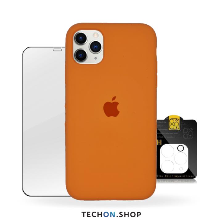360° Protection Pack | iPhone 11 Pro - Neon Orange