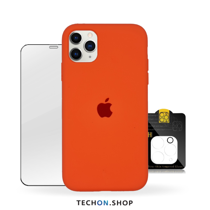 360° Protection Pack | iPhone 11 Pro - Apricot Orange