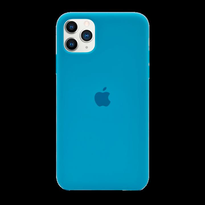 iPhone 11 Pro Max Silicone Case - Bright Blue