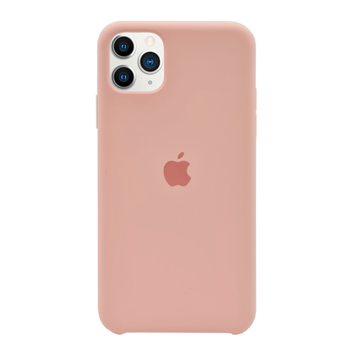iPhone 11 Pro Max Silicone Case - Pink Beige