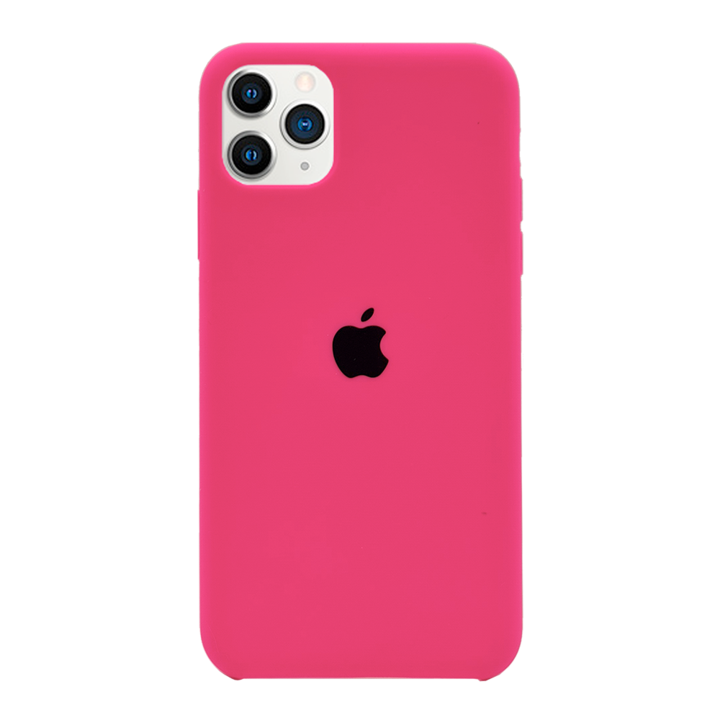 iPhone 11 Pro Max Silicone Case - Neon Pink