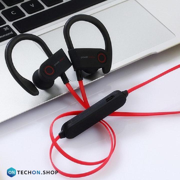 Bluetooth Earphones - Power - Black/Red