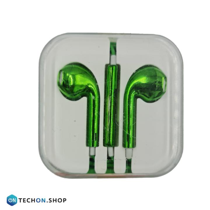 Wired Earphones - Green