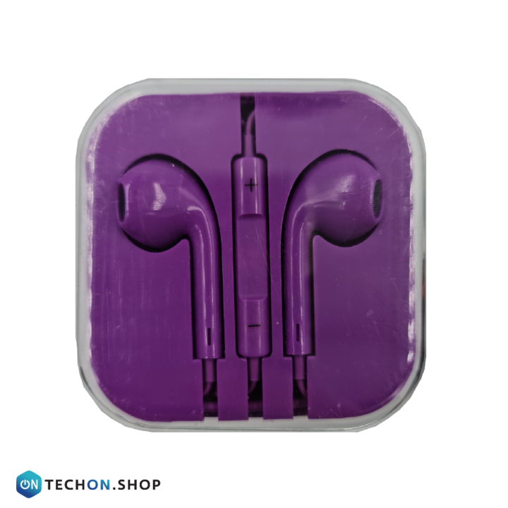 Wired Earphones with Mic - Purple