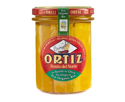 White Tuna in Organic Extra Virgin Olive Oil 220g glass jar