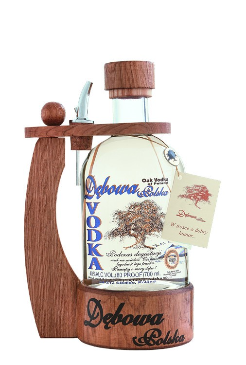 Dębowa Polska Vodka with an oak handle 70cl 40% alc.