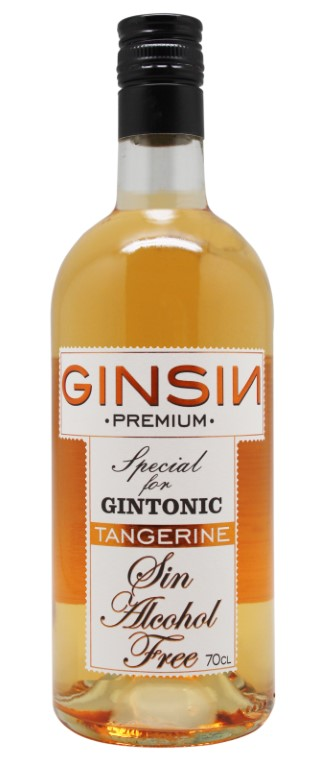 Ginsin alcohol free Tangerine flavored Gin 70cl