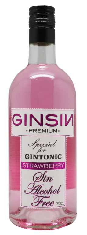 Ginsin alcohol free Strawberry flavored Gin 70cl