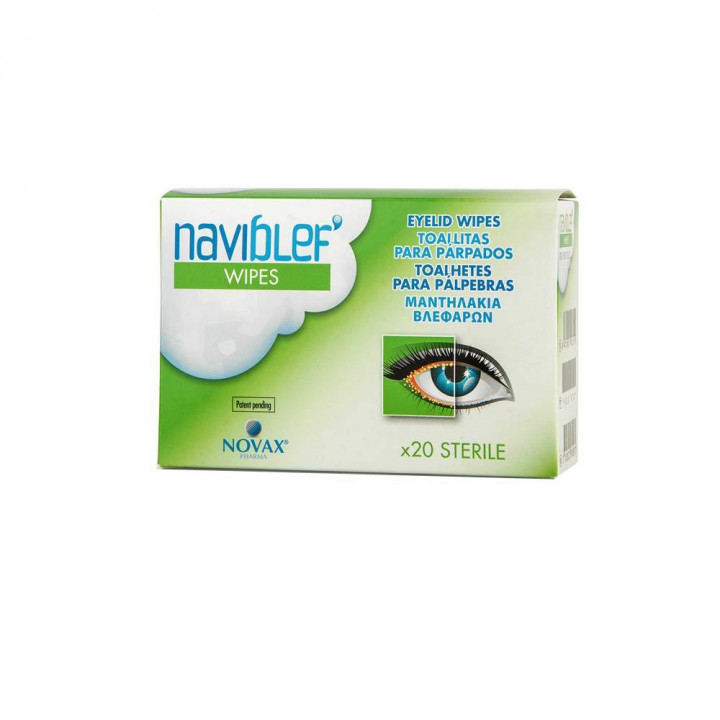 Naviblef Wipes Eyelash Αnd Face Cleansing Wipes - 20 pieces