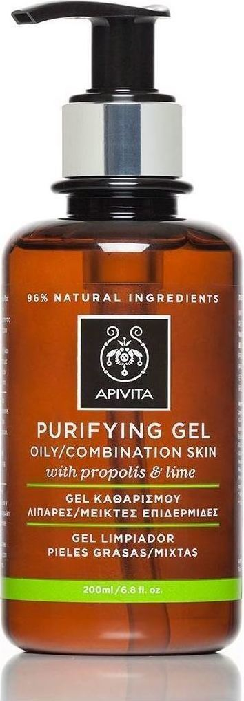 Apivita Purifying Gel For Oily / Combination Skin With Propolis & Lime 200ml