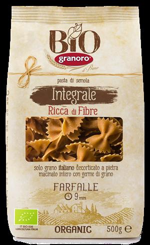 Granoro organic Whole Wheat Farfalle 500g