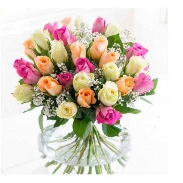 30 Mix Roses Bouquet
