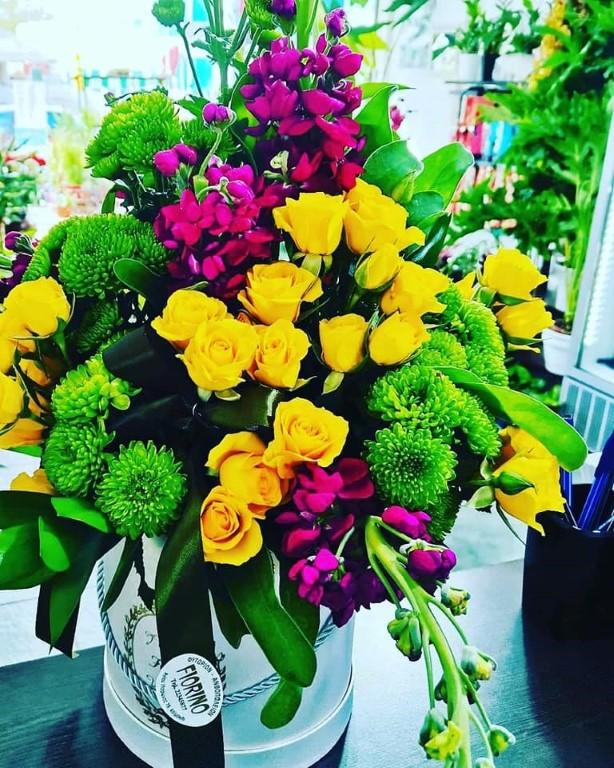 Mix Flower Arrangement In Box Big