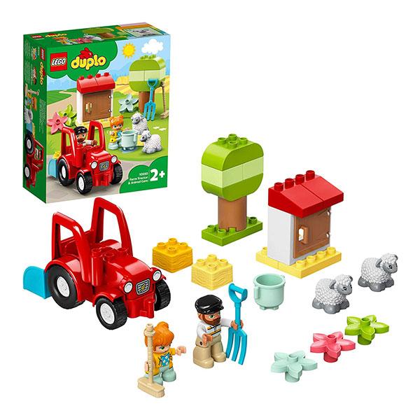 LEGO-Duplo Town Farm Tractor Animal Care 10950