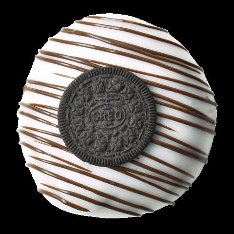 402. Kids Oreo | Ντόνατς με πραλίνα άσπρης σοκολάτας και θρυμματισμένο μπισκότο, γαρνιρισμένο με Oreo
