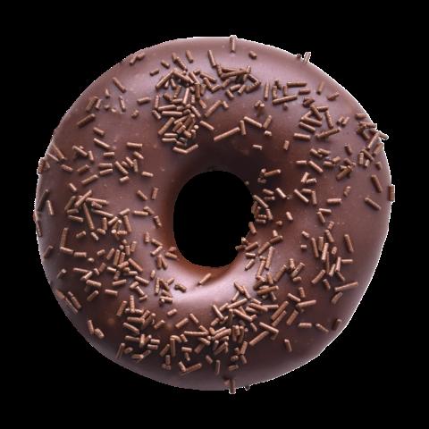 502. Dark Chocolate Ring | Ντόνατ με επικάλυψη γλάσου ζάχαρης, εμπλουτισμένου με κακάο και γαρνιρισμένο με τρούφα σοκολάτας