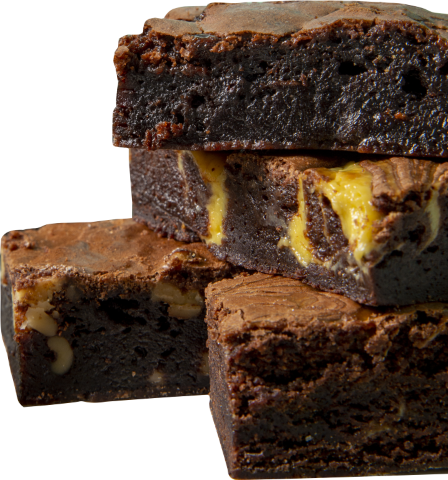 203. Triple Chocolate | Μπράουνι με κομμάτια Βελγικής σοκολάτας γάλακτος και άσπρης σοκολάτας
