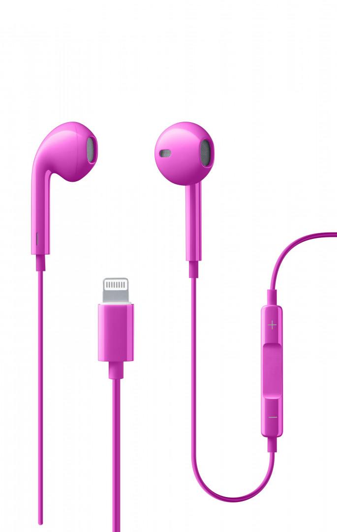 Cellularline - Earphones - SWAN Lightning - Pink