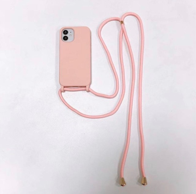 STRAP CASE iPhone 12/12 PRO - pink