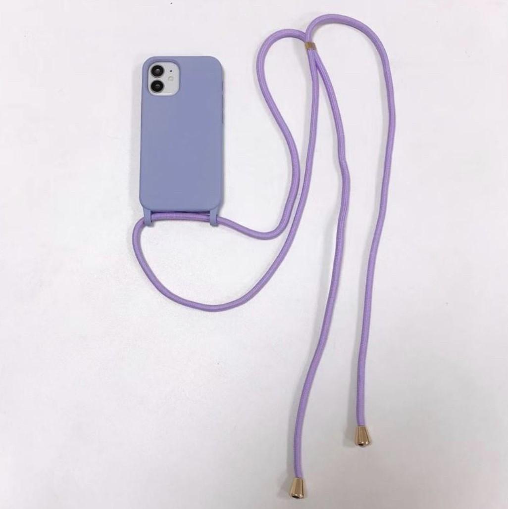 STRAP CASE iPhone 12 PRO MAX - purple