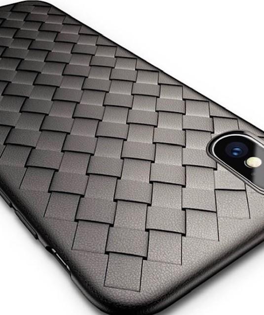Woven case iPhone 7/8/ SE 2020 - black