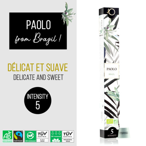 """ORIGEENS """"PAOLO"""" 10 CAPSULES BOX"""