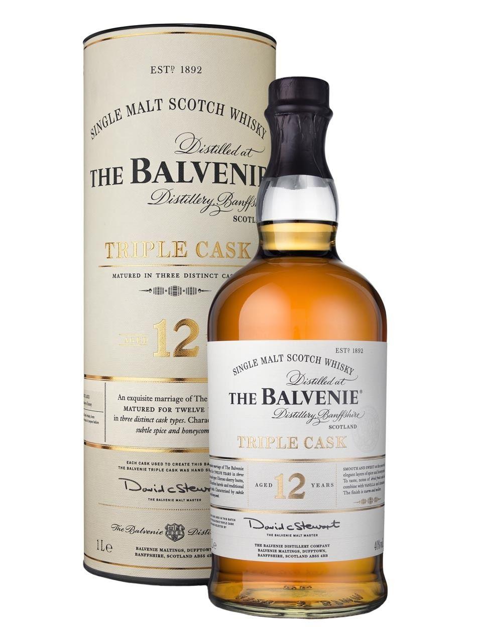 THE BALVENIE TRIBLE CASK 12 Y.O. 100cl