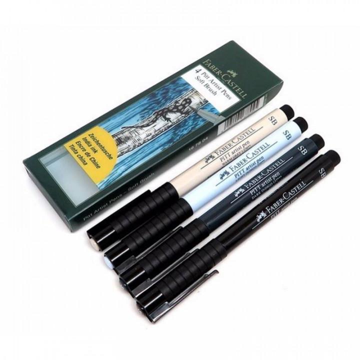 Faber Castel brush pen india ink4