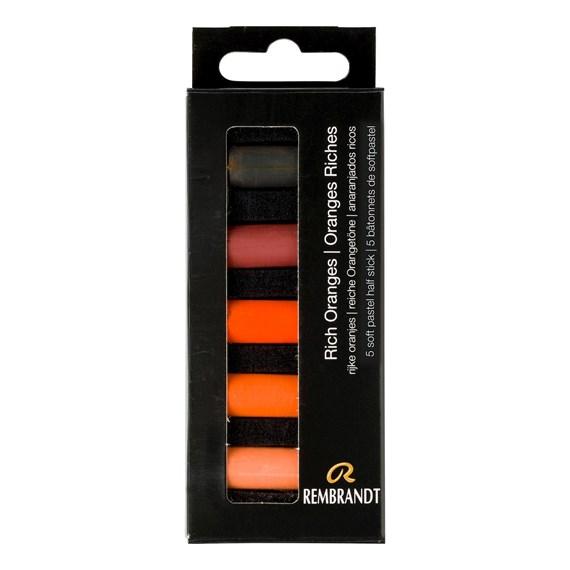 REMBRANDT soft pastel 5 oranges