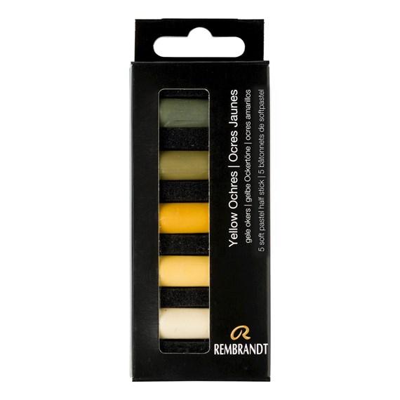 REMBRANDT soft pastels 5 ochres