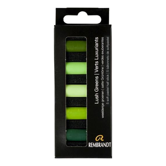 REMBRANDT soft pastel 5 lush greens