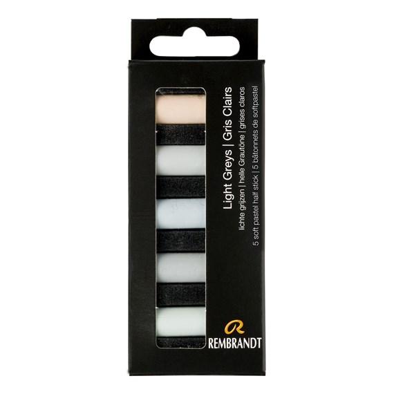 REMBRANDT soft pastels greys
