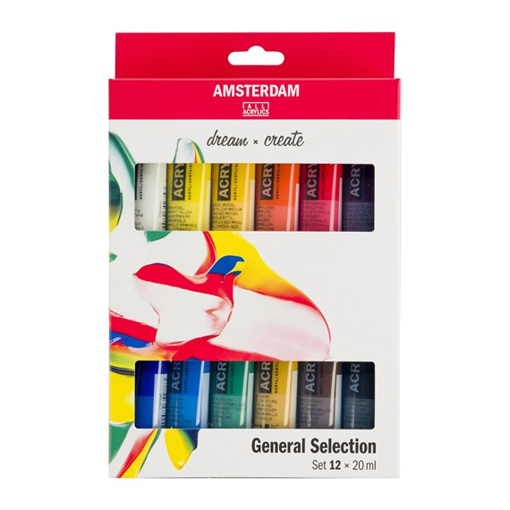 AMSTERDAM acrylics set 12x20ml